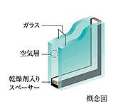 優れた断熱性で冷暖房効率が高い複層ガラス