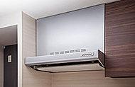 「ホーローシャウトアウトパネル」、「ホーロー整流板」、「親水性グリルフィルター」の3つの機能で清掃の手間を「トリプルガード」 。