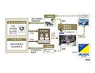 ALSOKとの提携による24時間365日体制のセキュリティシステム「アウル24」を導入。建物内で異常事態が発生した場合、管理事務室の警報監視盤から「アウル24センター」を通じALSOKに自動通報。