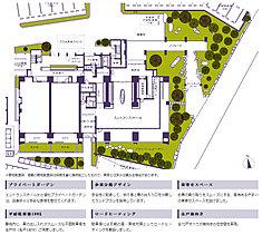 盛岡城跡公園(約590m)から中津川(約440m)を挟み、南側に計画される「プレミスト大清水邸苑」。大清水多賀が店を構えた広大な敷地を活かし、日常に快適と潤いをもたらすゆとりの敷地計画を実現に導きました。