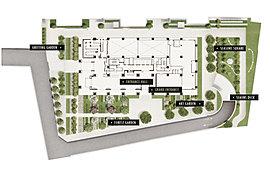 9階の北側に面したゲストスイートは、大切なゲストの宿泊スペース。ツインベッドルームはホワイトカラーでコーディネートした優雅で洗練された空間。床に敷き詰めた白の大理石とラグは、ご利用の方に上質感を伝える。