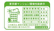 「建物の断熱性」「設備の省エネ性」「太陽光発電・太陽熱」「建物の長寿命化」「みどり」の5項目の評価について、星印(★)の数3つで表示することで、どなたにも分かりやすく表現しています。