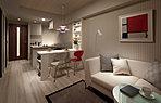 可変性を求めたリビング+続き間洋室。個性に合わせて、いつまでも快適にお住まいいただきたい。そんな思いから、ご家族のライフスタイルに合わせて柔軟にスペースを活用できるリビング+続き間洋室を全邸に採用。