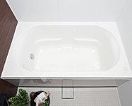 シンプルなスクエア形状。断熱仕様で、お湯がさめにくく、光熱費の節約ができます。