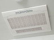 雨の日や夜間でも洗濯物を乾かせる涼風・温風機能付の電気式浴室換気乾燥暖房機を設置。