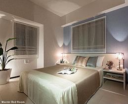快適な質にこだわったベッドルーム。過ごしやすい広さ、使い勝手のよい空間、しっかりとした収納。上質なまでの仕立てが創り出すベッドルームは、安らぎの時間をお届けするためのこだわりが随所に息づいています。