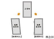 万が一の地震で枠が変形しても扉の開閉機能が損なわれづらい耐震枠を標準仕様としています。