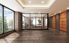 装飾と設えが心を穏やかにしてくれるエントランスホール。