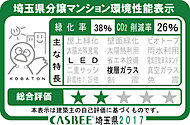 「サンクレイドル西川口II」では埼玉県が評価する建築物環境計画書の取り組み状況に応じて評価される「埼玉県建物環境性能表示」を取得しています。