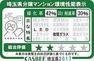 「サンクレイドル西川口III」では埼玉県が評価する建築物環境計画書の取り組み状況に応じて評価される「埼玉県建物環境性能表示」を取得しています。