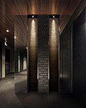 格別で上質な印象を醸し出すエレベーターホール。