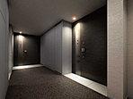 落ち着きと上質につつまれる内廊下。住まいへのアプローチはホテルライクな高級感をもち、プライバシーとセキュリティを高めた内廊下を採用。私邸空間の落ち着いた静けさを守ります。