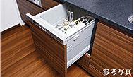 楽な姿勢で食器が出し入れでき、自動で洗えて便利な食器洗い乾燥機。