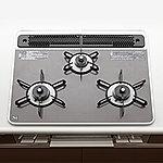 調理を効率よく楽しめる、両面焼きグリルを搭載した3ッ口タイプ。
