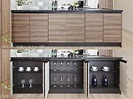キッチンカウンターの下に、LD側から使えるワイドな収納スペースを確保。効率的な収納プランニングで、スッキリとした住まいを実現。※一部住戸除く