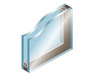 2枚のガラスの間に中空層を持たせ、内外の熱の移動を少なく抑えます。