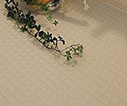 溝と傾斜を利用した水はけに優れたモザイクパターンフロアです。