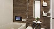 浴室には、浴室暖房乾燥機を採用しています。寒い冬に予め浴室を温めておくこともでき、結露やカビの軽減に役立ちます。