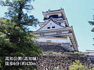 高知公園(高知城) 約430m(徒歩6分)