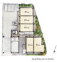 敷地面積を有効に活かし、隣接する建物との距離にゆとりを保ちながら5階建の住棟をレイアウト。ご用意した住戸は全32邸。