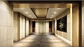 迎賓の思想をデザインしたエントランスホール