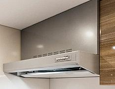 煙をパワフルに吸いこむ整流板付。整流板は取り外し可能なため、丸洗いができお手入れラクラク。※一部住戸は形状が異なります