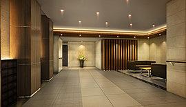 ベージュカラーと質感のあるマテリアルを採用し、優雅な佇まいをデザイン。