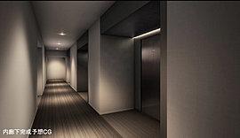 ホテルライクな内廊下を採用するとともに、プライバシーに配慮し各住戸の玄関にはオープンポーチを設け、また玄関同士が向かい合わないように設計しました。