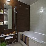 浴室乾燥機やオートバス・エコフルシャワーなどを備え、1日の疲れを癒してくれるバスルーム。