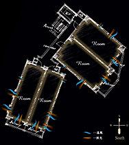 全戸南面&角住戸を実現した、上質なプライベート空間。すべての住戸を「南面&角住戸」に設計。2面開口で風通しが良く開放感のある角住戸は、隣接した住戸が少なく、高いプライバシー性を持ちます。