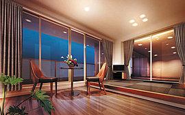 ホテルのスイートルームを彷彿とさせる至福のゲストルーム。1泊2,000円でゲストの方に宿泊いただける「モントーレグランシェル」のゲストルーム。大切なお客様にお泊りいただく部屋だからこそ、至福のひとときをお約束する空間を備えました。