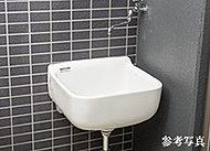 ※一部タイプ除く※スロップシンクの排水は、雨水系統接続となるため、汚水は流すことができません。