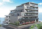 落ち着きある住環境が守られた住宅街に建つ住まいらしく、周囲の景観に配慮した洗練の建物デザイン。ライトグレーとホワイトを組み合わせた、美しいコントラストを見せるカラーリングを採用しています。