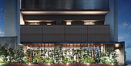 気品あふれるタイル貼りの壁面、やわらかな照明、潤いに満ちた植栽.....。 オーナーには、帰ってきた時心からの安らぎを感じさせ、訪れるゲストには、その先に待つ優雅な時間に期待させる。