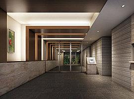 交流と寛ぎの空間、オーナーズラウンジ。ホールの隣にはオーナーズラウンジを設けました。入居者同士の語らいやゲストとのご歓談にお使いいただける、ホテルライクな空間です。