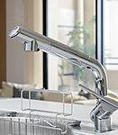 原水ストレート、原水シャワー、浄水ス トレートと、水流パターンの切り替えが可能な混合水栓です。(浄水器カートリッジ別途契約)