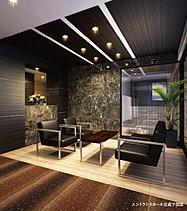 落ち着いた雰囲気を醸すホテルライクなラウンジ。柔らかな照明がゆとりの空間を表現。