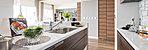 キッチンは、オープンタイプでリビング・ダイニングと一体感のある大きな開放感を創出、家族とのコミュニケーションも広がります。また、デザイン性の高い美しいスタイルに加え家事作業のしやすさにも配慮しています。