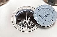 生ゴミをキッチンで粉砕し水で流せるディスポーザを採用。専用処理層で分解・浄化して下水道に排出しなければならないため、後からの設置が出来ません