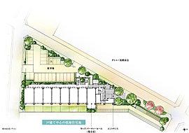 潤いと華やぎに満ちた街区を描く植栽計画。