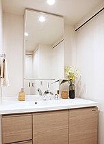 機能的で使いやすい洗面室から、一日がさわやかにスタート。