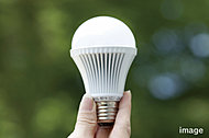 住戸内のダウンライトにLED照明を採用。非常にエネルギー効率がよく低消費電力で、長寿命です。