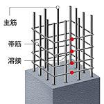耐震性に優れた柱部配筋。