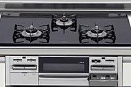 ダブル高火力バーナー・自動調理機能・揚げ物温度調節・調理タイマー・スライドレールグリル・Siセンサー・シールドバーナー・クリアコートグリル皿