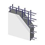 地震時に建物にかかる水平力が作用する耐震壁に、よりねばり強さを発揮する二列配列のダブル配筋を採用しています。※一部壁を除く
