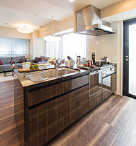 デザイン性と機能性に優れたキッチン。