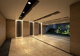緑に迎えられて館内へと歩みを進めれば、迎賓の間にふさわしい空間が来る人を優しく包み込みます。静謐なエントランスホールは気品に溢れ、優美な雰囲気が、住む人の心を満たします。