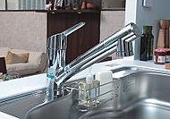 水・お湯を手軽に切り替えることができ、デザイン性も優れた混合水栓。浄水器本体を内蔵しており、いつでも清潔でおいしい水が楽しめます。