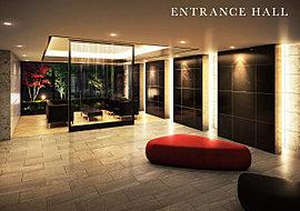 エントランスホールには、ホスピタリティあふれるラウンジを設け、住まう方を寛ぎの日常へ誘います。