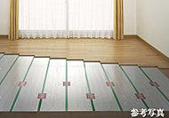 リビング・ダイニングには、床暖房を採用。お部屋全体を足先からムラなく暖めます。